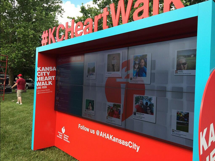 The American Heart Association Harnesses the Power of Social Media Through Tint's Innovative Display