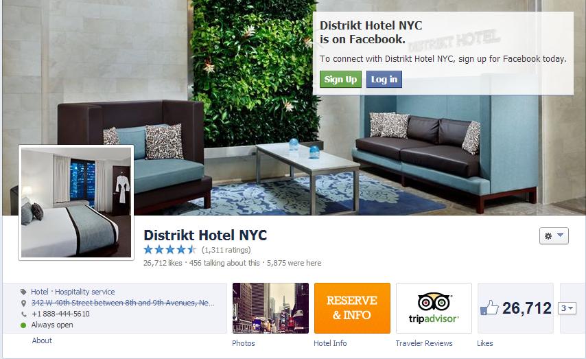 Distrikt Hotel NYC FB