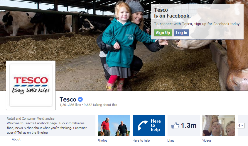 Tesco Facebook