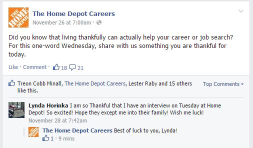 Home Depot Careers Status